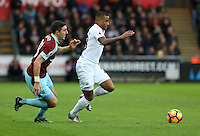 Saturday 04 March 2017<br /> Pictured: Luciano Narsingh of Swansea City<br /> Re: Swansea City v Burnley, Premier League Match at the Liberty Stadium Swansea, Wales, UK