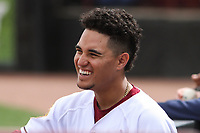 Wisconsin Timber Rattlers outfielder Carlos Rodriguez (3) during a game against the Cedar Rapids Kernels on September 8, 2021 at Neuroscience Group Field at Fox Cities Stadium in Grand Chute, Wisconsin.  (Brad Krause/Four Seam Images)