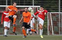Niklas Rausch (Haßloch) spielt den Ball weiter - Rüsselsheim 27.09.2020: TV Haßloch vs. Olympia Biebesheim II, B-Liga