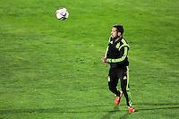 Spanish National Team's  training at Ciudad del Futbol stadium in Las Rozas, Madrid, Spain. In the pic: Jordi Alba. March 25, 2015. (ALTERPHOTOS/Luis Fernandez) /NORTEphoto.com