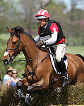 April 26, 2014: Ballynoe Castle RM and Bruce Davidson Jr. compete in Cross Country at the Rolex Three Day Event in Lexington, KY at the Kentucky Horse Park.  Candice Chavez/ESW/CSM