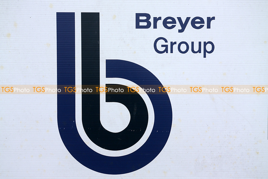 Breyer Groupl logo during Leyton Orient vs Oldham Athletic, Sky Bet EFL League 2 Football at The Breyer Group Stadium on 27th March 2021