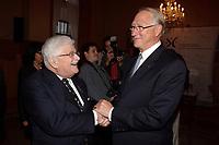 Paul Gerin-Lajoie  ,Gerald Tremblay,<br /> le 9 octobre 2007 au cocktail du<br /> Gala des Grands Montrealais a l'Hotel de Ville de Montreal<br /> <br /> photo : Agence Quebec Presse<br />  - Pierre Roussel