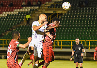 TUNJA - COLOMBIA, 18-07-2021:  XXXXX de Patriotas Boyacá disputa el balón con XXXXX  del Atlético Bucaramanga durante partido por la fecha 1 entre Patriotas Boyacá y Atletico Bucaramanga como parte de la Liga BetPlay DIMAYOR II 2021 jugado en el estadio La Libertad de la ciudad de Tunja. / XXXX of Patriotas Boyaca vies for the ball with  XXXX player of Atletico Bucaramanga during match for the date 1 between Patriotas Boyaca and Atletico Bucaramanga as a part BetPlay DIMAYOR League II 2021 played at La Independencia stadium in Tunja city. Photo: VizzorImage / Edward Leguizamon / Contribuidor
