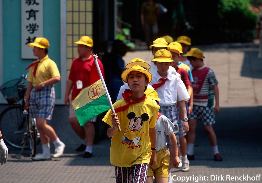 China, Peking, Schulkinder