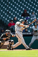 Baylor Bears outfielder Adam Toth (15) swings the bat during Houston College Classic against the Hawaii Rainbow Warriors on March 6, 2015 at Minute Maid Park in Houston, Texas. Hawaii defeated Baylor 2-1. (Andrew Woolley/Four Seam Images)