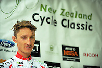 Tour leader James Oram after the NZ Cycle Classic stage two of the UCI Oceania Tour in Wairarapa, New Zealand on Monday, 23 January 2017. Photo: Dave Lintott / lintottphoto.co.nz