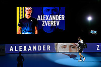 18th November 2020, O2, London, England;  Alexander Zverev , Germany enters the court before the singles group match  at the ATP  finals in London