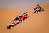 5th January 2021; Dakar Rally stage 3; 305 Loeb Sébastien (fra), Elena Daniel (mco), Hunter, Bahrain Raid Xtreme, Auto, BRX, 59 Interno Tiziano (ita), Beta, Rally Pov, Original by Motul, Moto, Bike, action during the 3rd stage of the Dakar 2021 between Wadi Al Dawasir and Wadi Al Dawasir, in Saudi Arabia on January 5, 2021