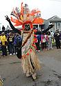 Zulu member on Jackson Avenue on Mardi Gras, 2013