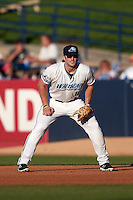 West Michigan Whitecaps first baseman Will Allen (16) during a game against the Burlington Bees on July 25, 2016 at Fifth Third Ballpark in Grand Rapids, Michigan.  West Michigan defeated Burlington 4-3.  (Mike Janes/Four Seam Images)