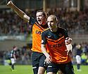 Dundee Utd's Jaroslaw Fojut celebrates after he scores United's late winner.