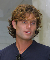 """Miami Beach, FL 1-20-2002<br /> Anthony Shriver, (Maria's brother) at <br /> Romero Britto's impromptu """"Paint Party"""", <br /> an afternoon of painting for friends <br /> and their families,<br /> Photo by Adam Scull/PHOTOlink"""