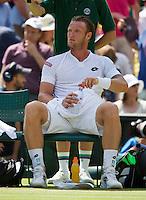 England, London, Juli 04, 2015, Tennis, Wimbledon, Samuel Groth (AUS) in his match against Roger Federer (SUI<br /> Photo: Tennisimages/Henk Koster