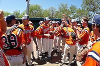 SAN ANTONIO, TX - APRIL 19, 2009: The Lamar University Cardinals vs. The University of Texas at San Antonio Roadrunners Baseball at  Roadrunner Field. (Photo by Jeff Huehn)