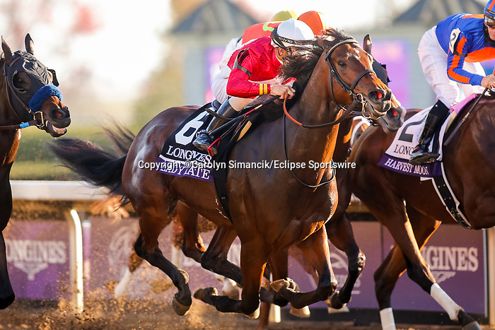 November 7, 2020 :Horses Race during the Longines Distaff on Breeders' Cup Championship Saturday at Keeneland Race Course in Lexington, Kentucky on November 7, 2020. Carolyn Simancik/Breeders' Cup/Eclipse Sportswire/CSM