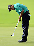 TAIPEI, TAIWAN - NOVEMBER 20:  Lu Chien Soon of Taiwan putts on the 9th hole during day three of the Fubon Senior Open at Miramar Golf & Country Club on November 20, 2011 in Taipei, Taiwan. Photo by Victor Fraile / The Power of Sport Images
