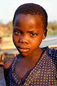 Kalepo, Tanzania. Portrait of a girl.