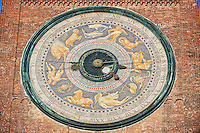 Astrological clock on the clock tower of the Romanesque Cathedral of Cremona, begun 1107, Cremona, Lombardy, northern Italy