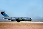 The C-17 Globemaster III is the newest,most flexible cargo aircraft to enter the airlift force. It is capable of rapid strategic delivery of troops and all types of cargo to main operating bases or directly to forward bases in the deployment area.<br /> (26)