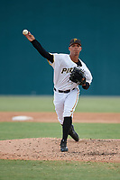 Pittsburgh Pirates pitcher Luis Arrieta (51) delivers a pitch during an Instructional League game against the Detroit Tigers on October 6, 2017 at Pirate City in Bradenton, Florida.  (Mike Janes/Four Seam Images)