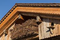 France, Haute-Savoie (74),Massif des Aravis, Manigod: La Maison des Bois de Marc Veyrat au col de la Croix Fry  // France, Haute Savoie, Massif des Aravis, Manigod: Marc Veyrat, Restaurant: La Maison des Bois, Col de la Croix Fry