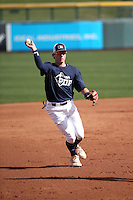 Trevor Hauver plays in the MLB / USA Baseball Prospect Development Pipeline game at Sloan Park on February 5, 2017 in Mesa, Arizona (Bill Mitchell)