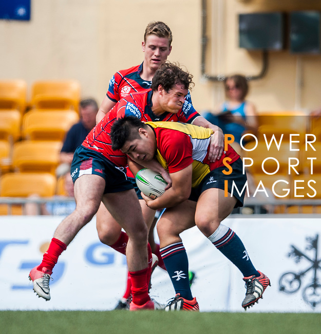 East Hotel HK Scottish Exiles vs Hong Kong Lions during day 1 of the 2014 GFI HKFC Tens at the Hong Kong Football Club on 26 March 2014. Photo by Juan Flor / Power Sport Images