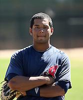 Alex Monsalve - Cleveland Indians - 2010 Instructional League.Photo by:  Bill Mitchell/Four Seam Images..