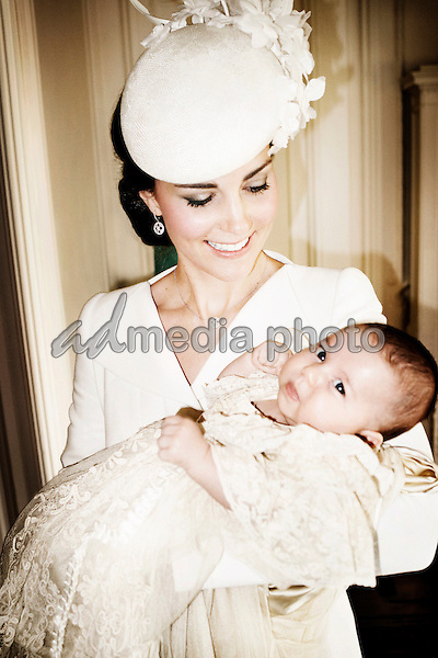 05/07/2015 Kate Duchess of Cambridge Katherine Catherine Middleton and her daughter, Princess Charlotte of Cambridge, who was christened at Sandringham on Sunday July 5, 2015. They are pictured in the Drawing Room at Sandringham House on the Sandringham Estate in Norfolk. Photo Credit: Mario Testino /Art Partner/Alpha Press/AdMedia