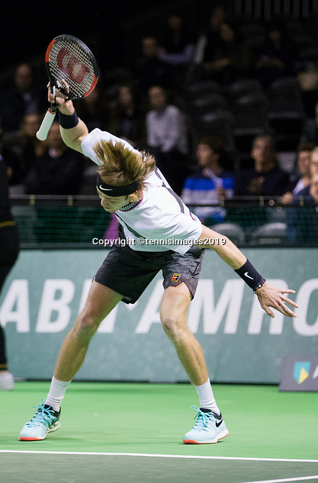 Rotterdam, Netherlands, 10 februari, 2019, Ahoy, Tennis, ABNAMROWTT, ANDREY RUBLEV (RUS) Photo: Henk Koster/tennisimages.com
