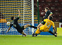 MOTHERWELL'S KEITH LASLEY SCORES MOTHERWELL'S FIRST GOAL