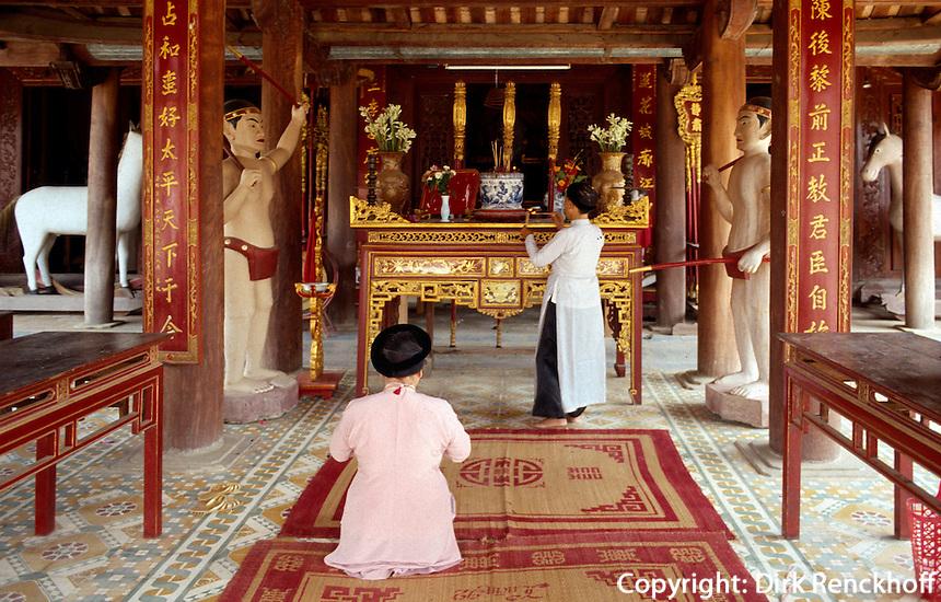 Den De-Tempel bei Hanoi, Vietnam