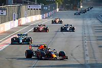 11 PEREZ Sergio (mex), Red Bull Racing Honda RB16B, 18 STROLL Lance (can), Aston Martin F1 AMR21, action during the Formula 1 Azerbaijan Grand Prix 2021 from June 04 to 06, 2021 on the Baku City Circuit, in Baku, Azerbaijan -<br /> FORMULA 1 : Grand Prix Azerbaijan <br /> 06/06/2021 <br /> Photo DPPI/Panoramic/Insidefoto <br /> ITALY ONLY
