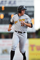 West Virginia Black Bears designated hitter Will Craig (28) running the bases during a game against the Batavia Muckdogs on June 28, 2016 at Dwyer Stadium in Batavia, New York.  Batavia defeated West Virginia 3-1.  (Mike Janes/Four Seam Images)