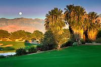 Monset over Desert Willow Golf Resort, Palm Desert, California
