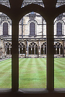 Durham: Durham Cathedral, Cloisters. UNESCO World Heritage Site. Photo '90.