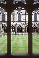 Durham: Durham Cathedral, Cloisters. UNESCO World Heritage Site. Photo '90.