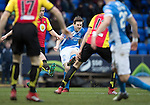 St Johnstone v Partick Thistle…11.02.17     Scottish Cup    McDiarmid Park<br />Blair Alston's shot is saved by Tomas Cerny<br />Picture by Graeme Hart.<br />Copyright Perthshire Picture Agency<br />Tel: 01738 623350  Mobile: 07990 594431