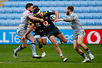 27th March 2021; Ricoh Arena, Coventry, West Midlands, England; English Premiership Rugby, Wasps versus Sale Sharks; Michael Le Bourgeois of Wasps attempts to break through the Sale Sharks defence