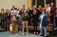 Knack Roeselare B - Doskom Moorslede : Knack B is kampioen en de supporters vieren dit mee <br /> foto VDB / BART VANDENBROUCKE