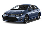 2019 Toyota Corolla  Premium 4 Door Sedan angular front stock photos of front three quarter view