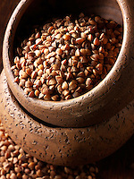 Whole buckwheat stock photos