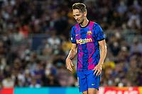 14th September 2021: Nou Camp, Barcelona, Spain: ECL Champions League football, FC Barcelona versus Bayern Munich: Luck de Jong moves forward