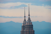 Peaks Of Petronas Twin Towers At Sunset, Malaysia