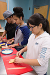 High School Students attending after school enrichment cooking class
