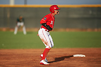 AZL Reds Yan Contreras (51) leads off second base during an Arizona League game against the AZL Athletics Green on July 21, 2019 at the Cincinnati Reds Spring Training Complex in Goodyear, Arizona. The AZL Reds defeated the AZL Athletics Green 8-6. (Zachary Lucy/Four Seam Images)