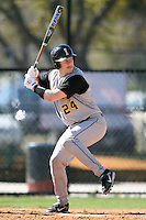 February 21, 2009:  Catcher Tyson Blaser (24) of the University of Iowa during the Big East-Big Ten Challenge at Jack Russell Stadium in Clearwater, FL.  Photo by:  Mike Janes/Four Seam Images
