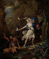 Circe Punishes Glaucus by Turning Scylla into a Monster - by Eglon van der Neer, 1695