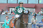 HOT SPRINGS, AR - MARCH 17: Martini Glass #7 with jockey Paco Lopez aboard after winning the Azeri Stakes at Oaklawn Park on March 19, 2018 in Hot Springs, Arkansas. (Photo by Justin Manning/Eclipse Sportswire/Getty Images)
